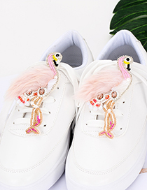 Fashion Pink Flamingo Shape Decorated Shoes Accessories