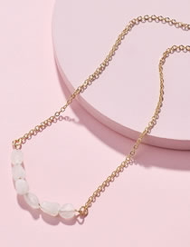 Simple White Pure Color Decorated Necklace