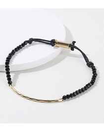 Fashion Black Bead Decorated Bracelet