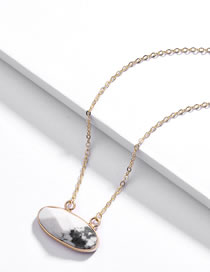 Fashion White Pure Color Decorated Necklace