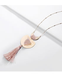Fashion Pink Tassel Decorated Necklace