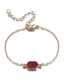 Fashion Red Geometric Shape Decorated Bracelet