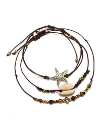 Fashion Brown Shell Shape Decorated Bracelet
