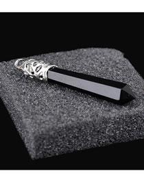 Fashion Black Bullet Shape Decorated Simple Pendant