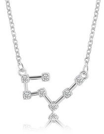 Simple Silver Color Taurus Shape Decorated Necklace
