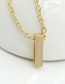 Fashion Gold Color Letter I Shape Decorated Necklace