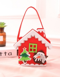 Fashion Red+green Penguin&house Shape Design Handbag