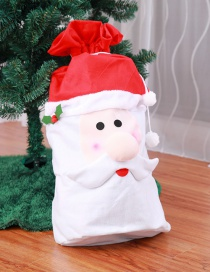 Fashion Red+white Santa Claus Shape Design Gift-bag