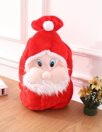Fashion White+red Santa Claus Shape Design Gifts Bag