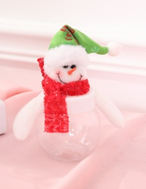Fashion Red+white Snowman Decorated Christmas Gift Jar