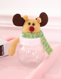 Fashion Brown Elk Shape Decorated Christmas Gift Jar