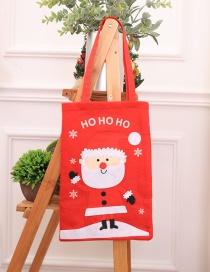 Fashion Red Letter Pattern Decorated Christmas Gift Bag
