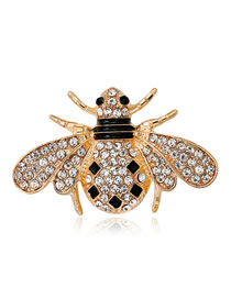 Fashion Gold Color Bee Shape Decorated Brooch
