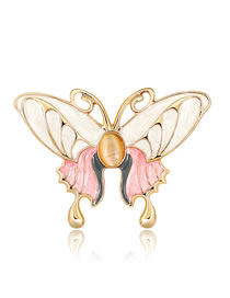 Fashion Gold Color Butterfly Shape Decorated Brooch