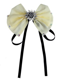 Fashion White Bowknot Shape Decorated Brooch
