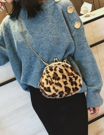 Fashion Dark Leopard Leopard Pattern Decorated Bag