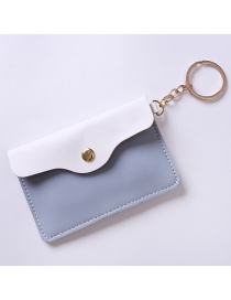Fashion White+blue Color-matching Decorated Purse