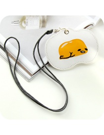 Fashion White Poached Egg Shape Decorated Purse