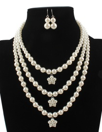 Fashion White Star Shape Decorated Jewelry Set