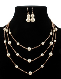 Fashion White Pearl Decorated Jewelry Set