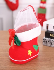 Fashion Red Bowknot Decorated Christmas Christmas Sock(l)