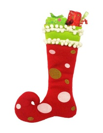Fashion Red Dots Pattern Decorated Christmas Sock