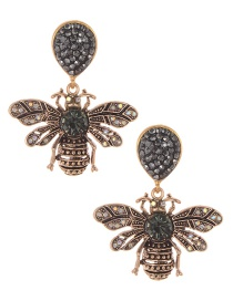 Fashion Bronze Bee Shape Decorated Earrings