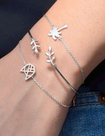 Fashion Silver Color Tree&leaf Shape Decorated Bracelet (4 Pcs )