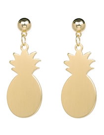 Fashion Gold Color Pineapple Shape Decorated Earrings