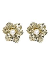 Simple Yellow Flower Shape Decorated Earrings