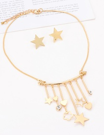 Fashion Gold Color Flowers&star Shape Decorated Jewelry Sets