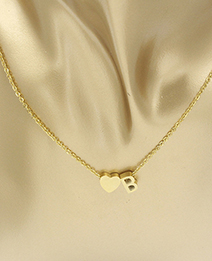 Simple Gold Color Letter B&heart Shape Decorated Necklace