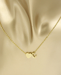 Simple Gold Color Letter C&heart Shape Decorated Necklace