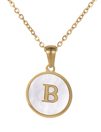 Fashion Gold Color Letter B Shape Decorated Necklace