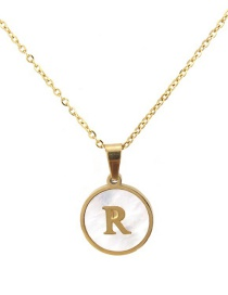 Fashion Gold Color Letter R Shape Decorated Necklace