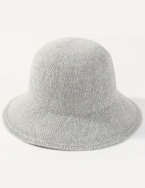 Simple Light Gray Pure Color Decorated Hat