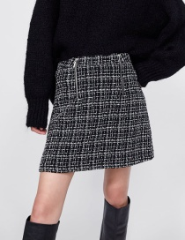 Fashion Black Double Zippers Decorated Simple Skirt
