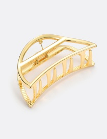 Elegant Gold Color Semicircle Shape Design Pure Color Hair Claw (large)