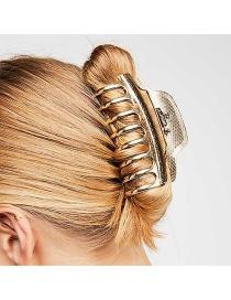 Elegant Gold Color Hollow Out Design Pure Color Hair Claw(large)