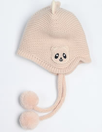 Fashion Beige Cartoon Panda Decorated Baby Hat