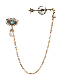 Fashion Gold Color Eye&pearl Decorated Simple Brooch