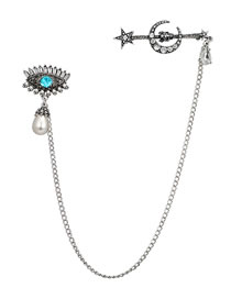 Fashion Silver Color Eye&pearl Decorated Simple Brooch