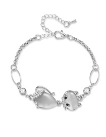 Fashion Silver Color Cartoon Fox Decorated Bracelet
