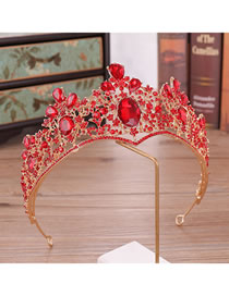 Fashion Red+gold Color Pure Color Design Bridal Hair Accessories