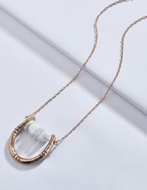 Fashion Gold Color U Shape Design Necklace