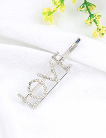 Fashion Silver Color Letter Pattern Decorated Hair Clip
