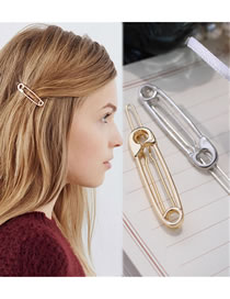 Fashion Gold Color Pure Color Decorated Hair Clip