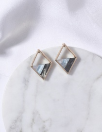 Fashion Multi-color Triangle Shape Decorated Earrings