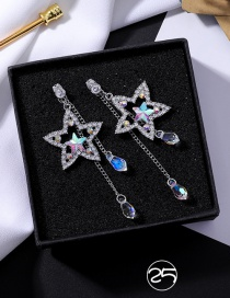 Fashion Multi-color Star Shape Decorated Earrings