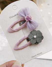 Fashion Purple Flower&bowknot Shape Decorated Hair Clip